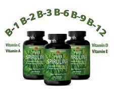SPIRULINA 500 mg 100% Plant-Based Dietary Supplement (3 Bottles)