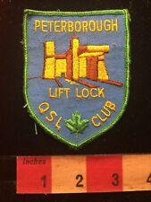 Vintage PETERBOROUGH LIFT LOCK QSL CLUB Amateur Radio Patch 81D2