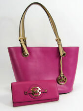 Michael Kors Jet Set Handbag and Stockard Carryall Wallet Fuchsia Excellent