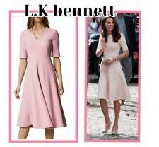 BNWT LK BENNETT ROSALA LAVENDER FIT & FLARE  DRESS SIZE UK 4-6 RRP £250