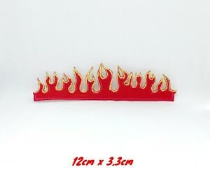 New Fire Flames Cute Iron Sew on Embroidered Patch #1221
