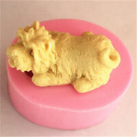Schnauzer Dog Silicone Cake Fondant Candy Mold Chocolate Soap Baking Mould Use