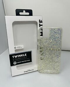 Case-Mate Twinkle Series Phone Case for Google Pixel 4 XL Stardust Clear