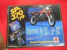 Suzuki Vintage 1979 SP370 DR370 Brochure Specification Original Motorcycle