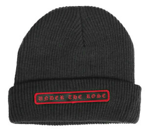 SUBROSA UNDER THE ROSE BEANIE HAT CAP BMX BIKE SHADOW CONSPIRACY OBEY GREY NEW