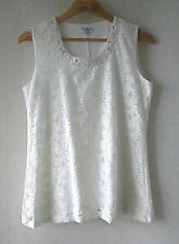 Millers sz 12 Crisp White Lace Diamond Trim Tank Top