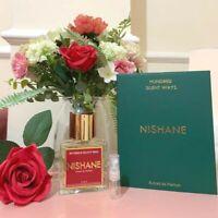NISHANE 100 silent ways EXTRAIT EDP 2.5ml sample glass atomiser perfume spray 🌺