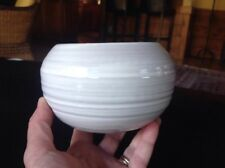 Rackliffe Pottery Small White  Rose Bowl Blue Hill Maine