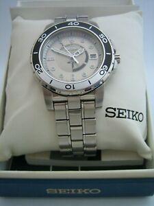 SEIKO MENS KINETIC WATCH SKA381 5M62-0BP0 STAINLESS STEEL BRACELET GENUINE