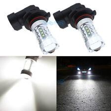 2Pcs 9006 HB4 High Power LED White 80W Fog Light Driving Bulb For VW Audi Canbus