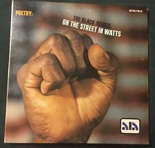 BLACK VOICES On The Street In Watts LP ALA poetry funk jazz