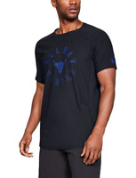 Under Armour Mens UA Project Rock Vanish All Day Hustled T-Shirt Black NWT