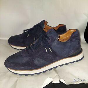 John Varvatos 315 Sneakers Men's 11 Navy Blue Suede Made In Portugal Worn Once