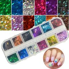 cofanetto 12 scomparti GLITTER MARQUISE SEQUINS  NAIL ART MANICURE nagel ongles