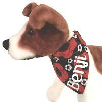 Personalised Dog Bandana, Poppy fabric, Small, Medium + Large