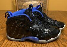 Nike Little Posite Foamposite Size 5Y Gs Space Jam Black Royal Blue 644791-006