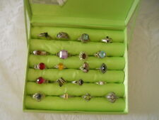 Lot 20 Women's 925 Sterling Silver Rings Assorted Sizes Styles Estate