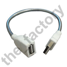 Short usb extension bendable shapable solid cable 4 usb light led male to female