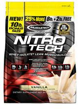 Nitro Tech, Whey Isolate + Lean Musclebuilder, Vanilla, 10 lbs (4.54 kg)