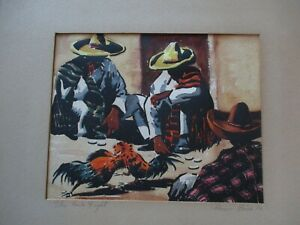 RAYMON PRICE ORIGINAL WATERCOLOR PAINTING ANTIQUE VINTAGE MEXICO MEXICAN 1930'S