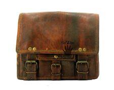 Mens gift genuine leather small I pad Tablet case satchel shoulder messenger bag