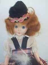 Vintage Marcie Scottish Plastic Doll Open Close Sleeping Eyes Plaid Skirt cLoseT