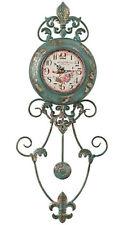 Uhr Wanduhr heinehome grün Metall & Acrylglas Höhe ca. 75 cm  118238