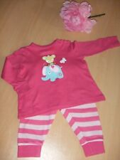 Schönes Mädchen Schlafanzug Gr.74 Pink Maus Elefant Schmetterling  Baby Pullover