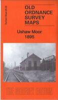 OLD ORDNANCE SURVEY MAP USHAW MOOR 1895 NEW BRANCEPETH ESHWOOD HALL BIGGINS