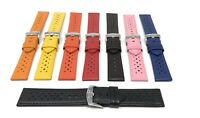 Leather GT Rally Watch Strap Band 18mm - 24mm, Black, Brown, White, Blue & More