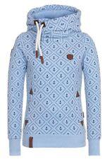Damen Hochkragen Sweatjacke Kapuzenpullover Hoodie Sweater Kapuzenjacke S - 5XL