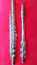 Uebel Hammig Vollsilber Querflöte handgemacht offen Gis Silberflöte silver flute