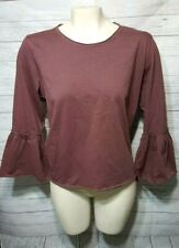 Abercrombie &Fitch Bell Sleeve T Shirt Women's Size L
