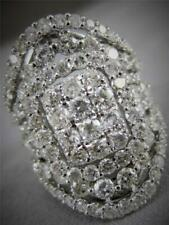 White Gold Anniversary Band 27Mm R0669 Modern 4.53Ct Diamond Right Hand Ring 18K
