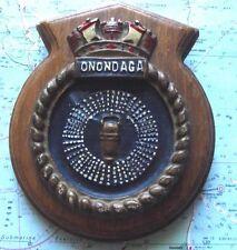 Metal HMCS Onondaga Submarine Ship Crest Shield Plaque