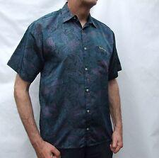 CHRISTIAN DIOR 100% pure SILK short sleeve  shirt -size L MINT