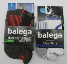 Lot of 2 Balega Unisex Hidden Comfort Running Socks (1) Black (1) White LARGE