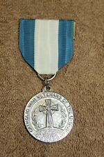 Original Scarce Named Catholic War Veterans Distinguished Service Medal, Named