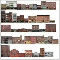 TRACKSIDE BACKDROP #500 Commercial buildings N Scale