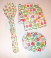 Target Dollar Spot Matching Napkins Coasters & Salad Utensils FLORAL Set