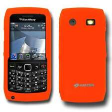 AMZER Orange Silicone Skin Jelly fit Case Cover for Blackberry Pearl 9105