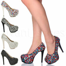 Party Court Textile Heels for Women