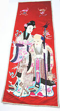 China 187 x 68 cm Stickerei Shoulao antique chinese silk embroidery Qing