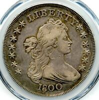 1800 Draped Bust Liberty Silver Dollar, PCGS XF-40, Nice Toning, Problem Free!