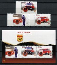 Angola 2004 Feuerwehr Fire Brigade Feuerwehrautos 1739-1741 Block 111 MNH