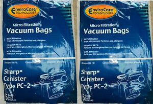 EnviroCare 10-Pack Vacuum Bags Sharp Canister Type PC-2