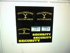 Dutton Ranch Montana  Security Vehicle Decals   Fictional 64 scale 2= 4 =1