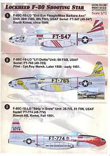 Print Scale Decals 1/72 LOCKHEED F-80 SHOOTING STAR American Jet Fighter