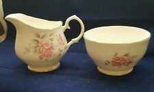 Duchess Bone China Milk Jug and Sugar Bowl Pink Rose Design