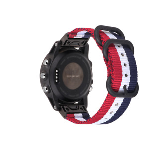 For Garmin Fenix 5X Plus Multisport 26mm Quick Release Metal Leather Watch Strap